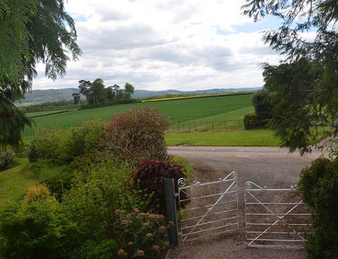 View from Upper Newton Farm gates at Upper Newton Farm