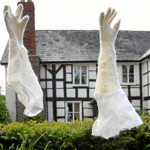 Merino and silk gloves made for an installation by Duck Shed Felt