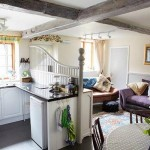 The living area and kitchen in Apple Bough Cottage, Herefordshire Holidays