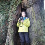 New Year Guest in the 500 year old Oak in Eardisley we took her walking on top of Hay Bluff