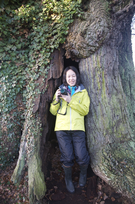 New Year Guest in the 500 year old Oak in Eardisley we took her walking on top of Hay Bluff