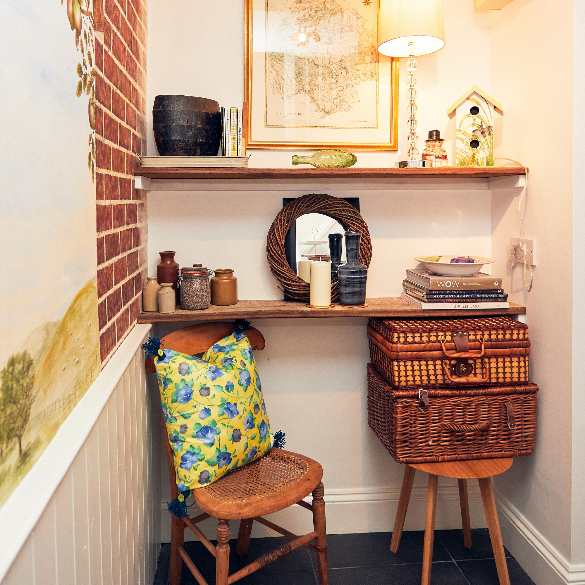 A quiet corner at Apple Bough Cottage, Upper Newton Farm, Herefordshire Holidays